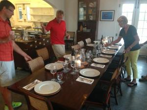 The Blackfly Dining Room - with the kitchen in the background.