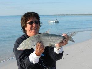 Bone fish caught in front of Kokomo - January 2012.