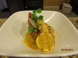 Course 3: Local Butter Grilled Lobster Tail with Fennel Ragout & Caramelized Lemon