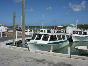 Our ferry ready for the return trip to Great Abaco