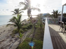 Looking west from the Abaco Palms main deck - notice some of the new sod that survived the storm!