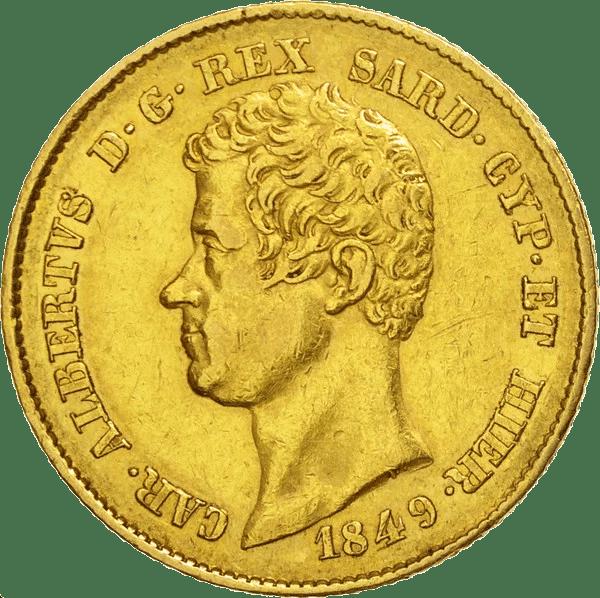 20 Lires Or Charles Albert Union Latine De 1831 1849