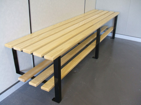 Cloakroom Wall To Floor Fixed Bench Changing Room Benches