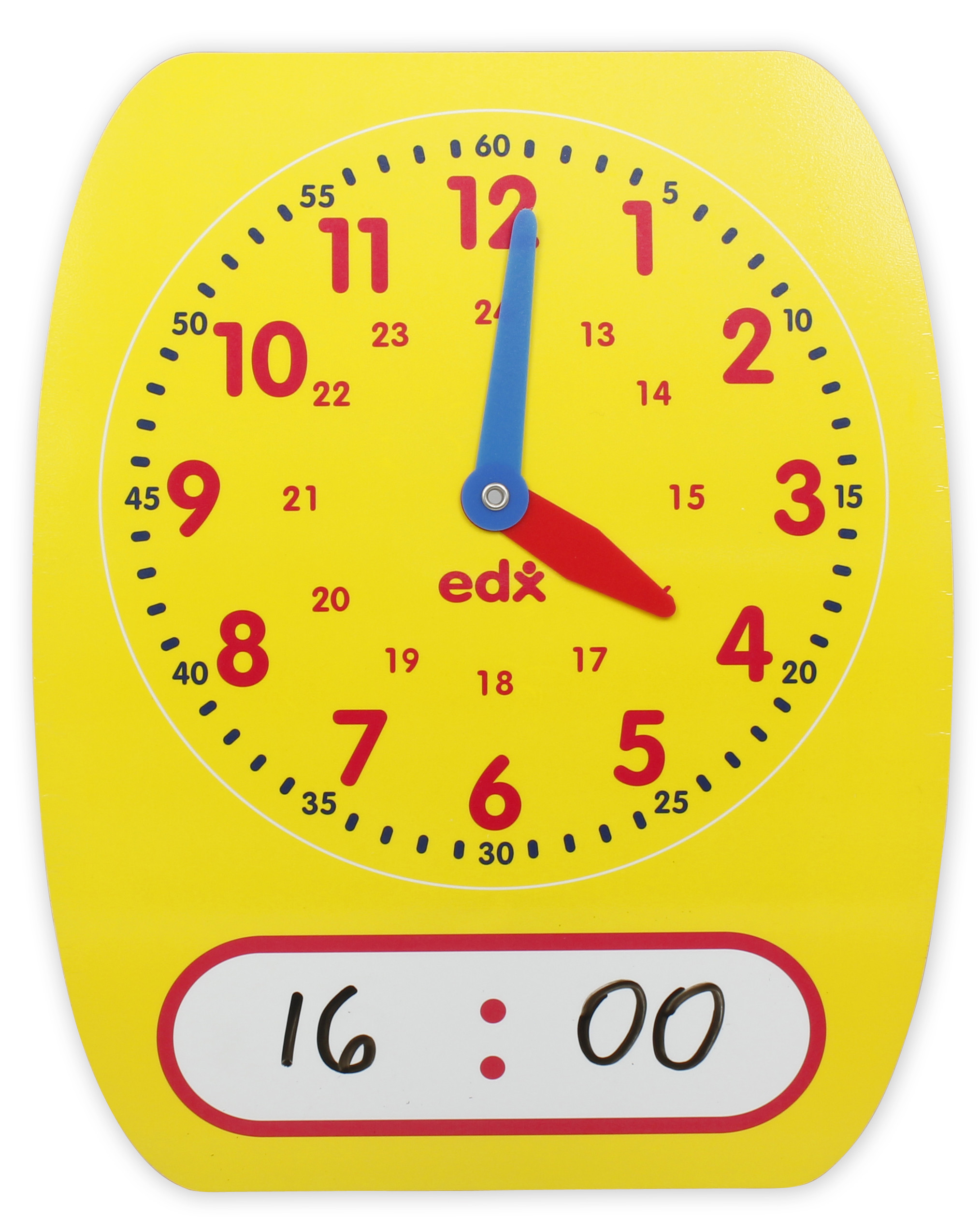 24 Hour Write On Wipe Off Demonstration Clock 1j041 N