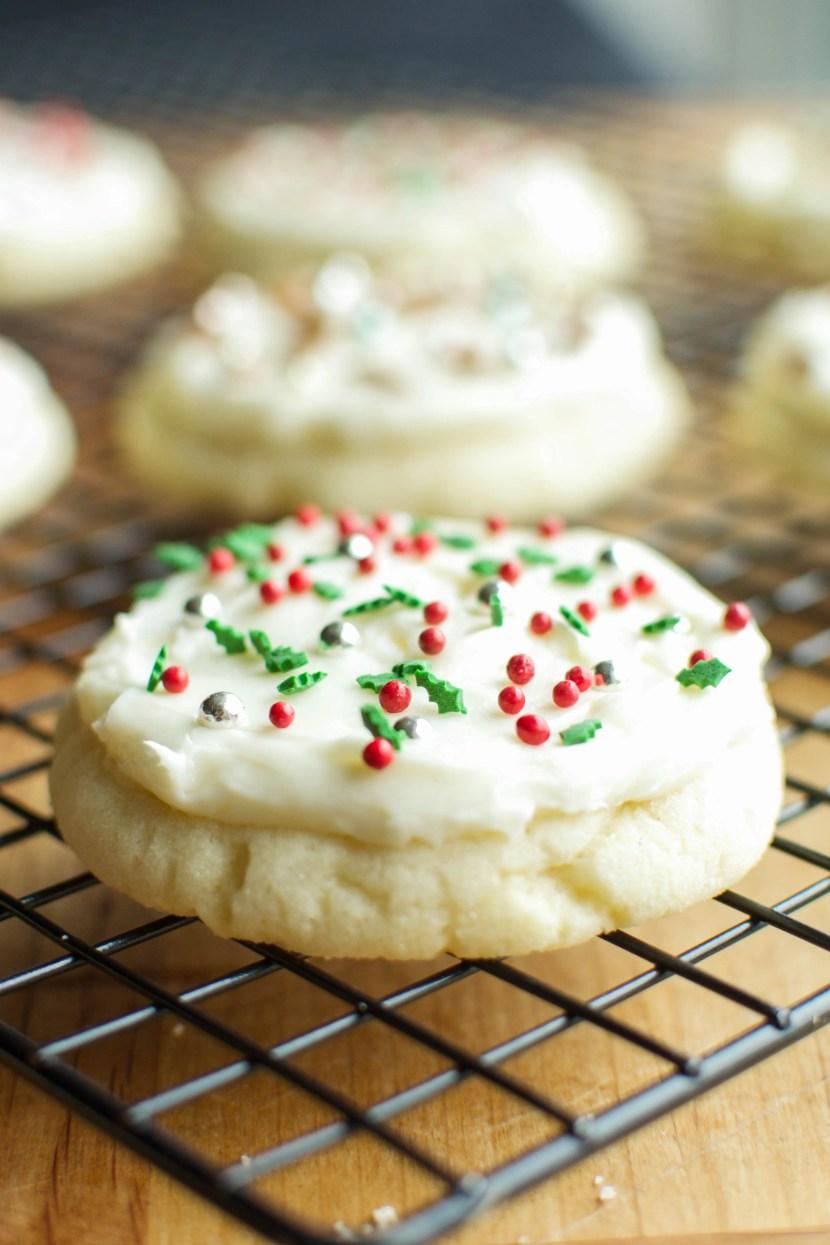 Soft & Chewy Cream Cheese Sugar Cookies   A bajillion Recipes