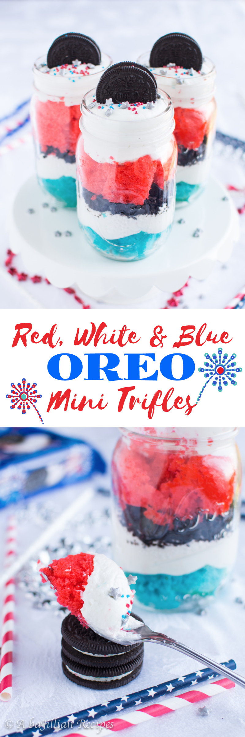 This is an image of Enterprising Blue Food Coloring Garnish Whipped Cream, Red, White And Blue Sprinkles
