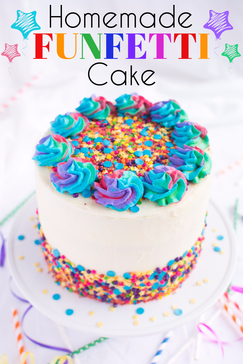 Homemade Funfetti Cake A Bajillian Recipes