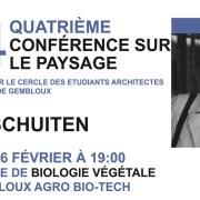 4e conférence du Cercle des Architectes Paysagistes à Gembloux