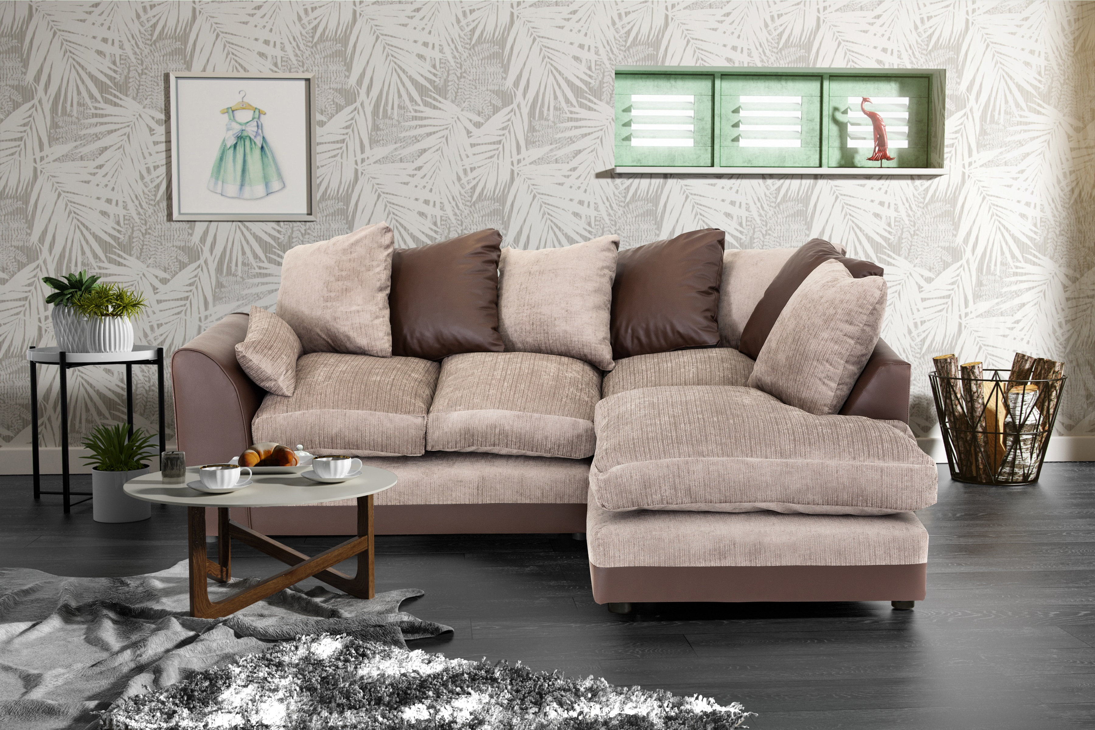 sofas for sale uk amazon blue chenille sofa byron corner group right and left brown black ebay