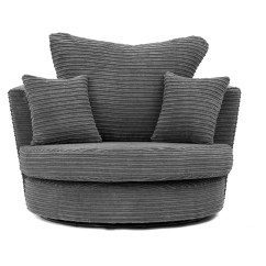 Dylan Jumbo Cord Black Fabric Corner Group Sofa Red Living Room Designs In Grey Brown, A Footstool Or ...