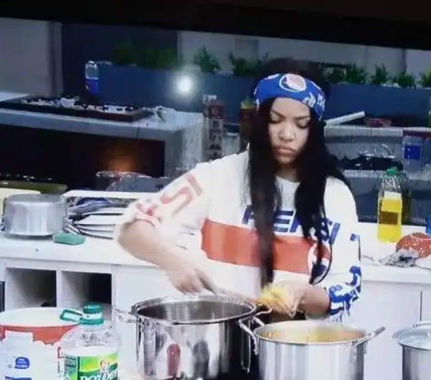 BBNaija: Here is the Egusi soup Nengi prepared that got people talking (See Photo)