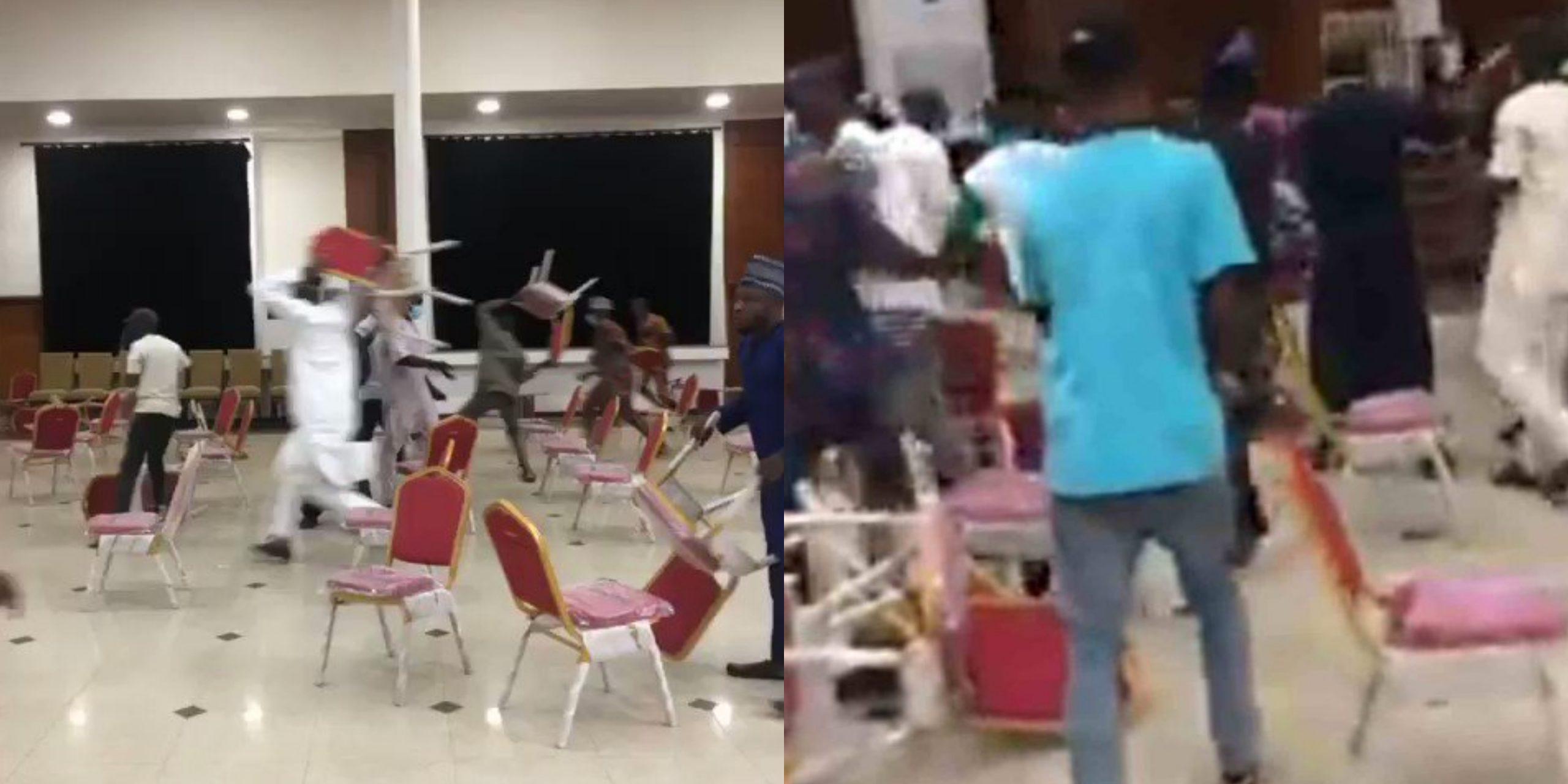 APC Members in Kwara Fights with chair during Membership Registration (Video)