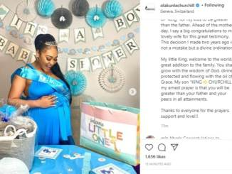 Tonto Dike's Ex Churchill Welcomes First Child, A Son With Rosy Meurer