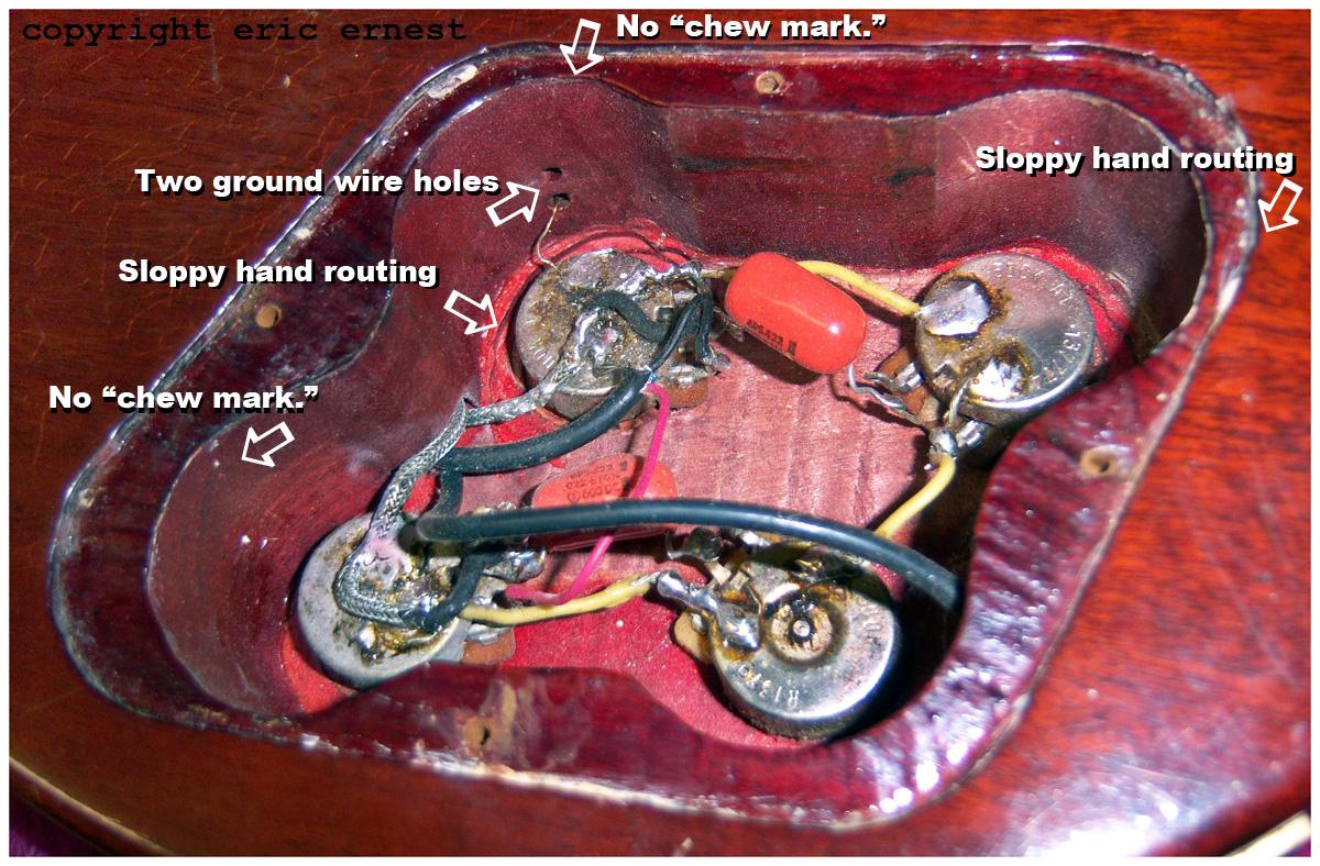 Sg Modern Wiring Diagram Photos Of Fake 1959 Gibson Les Paul Guitars Forgery Replicas