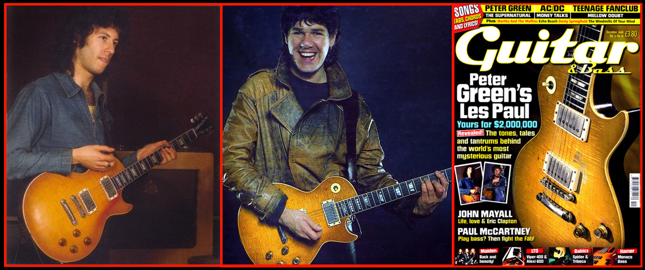 Peter Green and Gary Moore with the 1959 Les Paul Standard