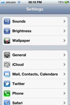 Iphone4s Settings Siri