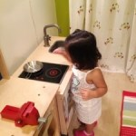 Wordless Wednesday : Baby in the Kitchen!