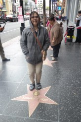 I made her pose on Dion Warwick's star... - she does not know who Dion Warwick is. LOL