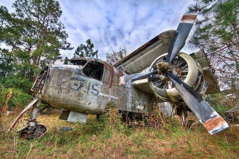 Grumman S 2 Tracker Boneyard Abandoned Florida