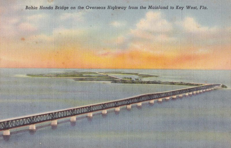 Bahia Honda Overseas Highway postcard