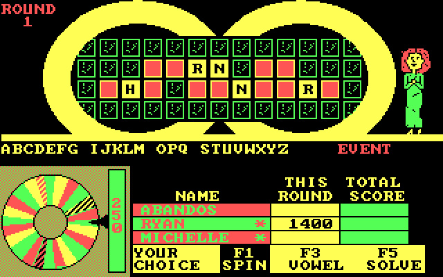 Download Wheel Of Fortune Puzzle For DOS 1987