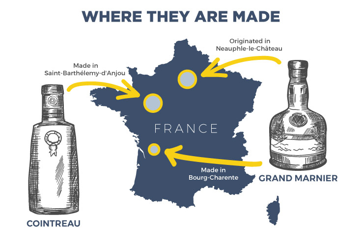 Cointreau vs Grand Marnier - Where they are made