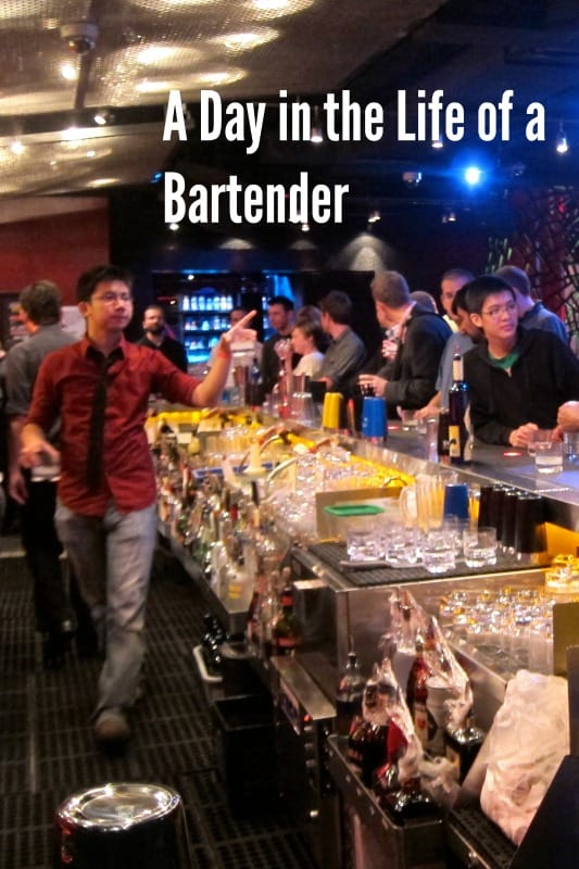 A Shift in the Life of a Bartender