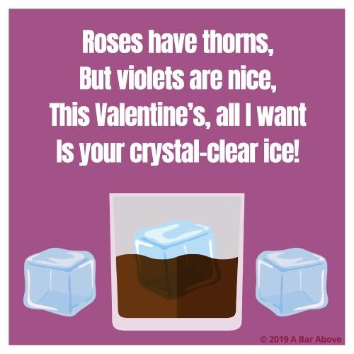 Bartender Valentine - Clear Ice