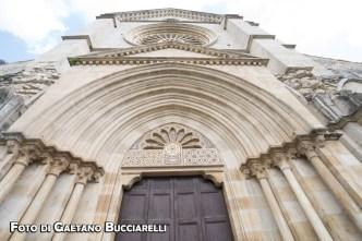 Suggestiva inquadratura della facciata dell'Abbazia