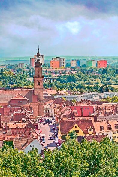 Blick vom Burgberg