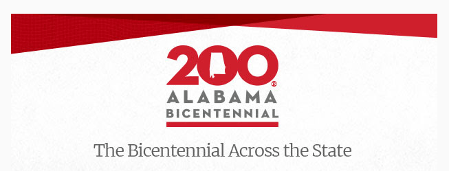 "Image showing words ""Alabama Bicentennial: Bicentennial Across the State"""