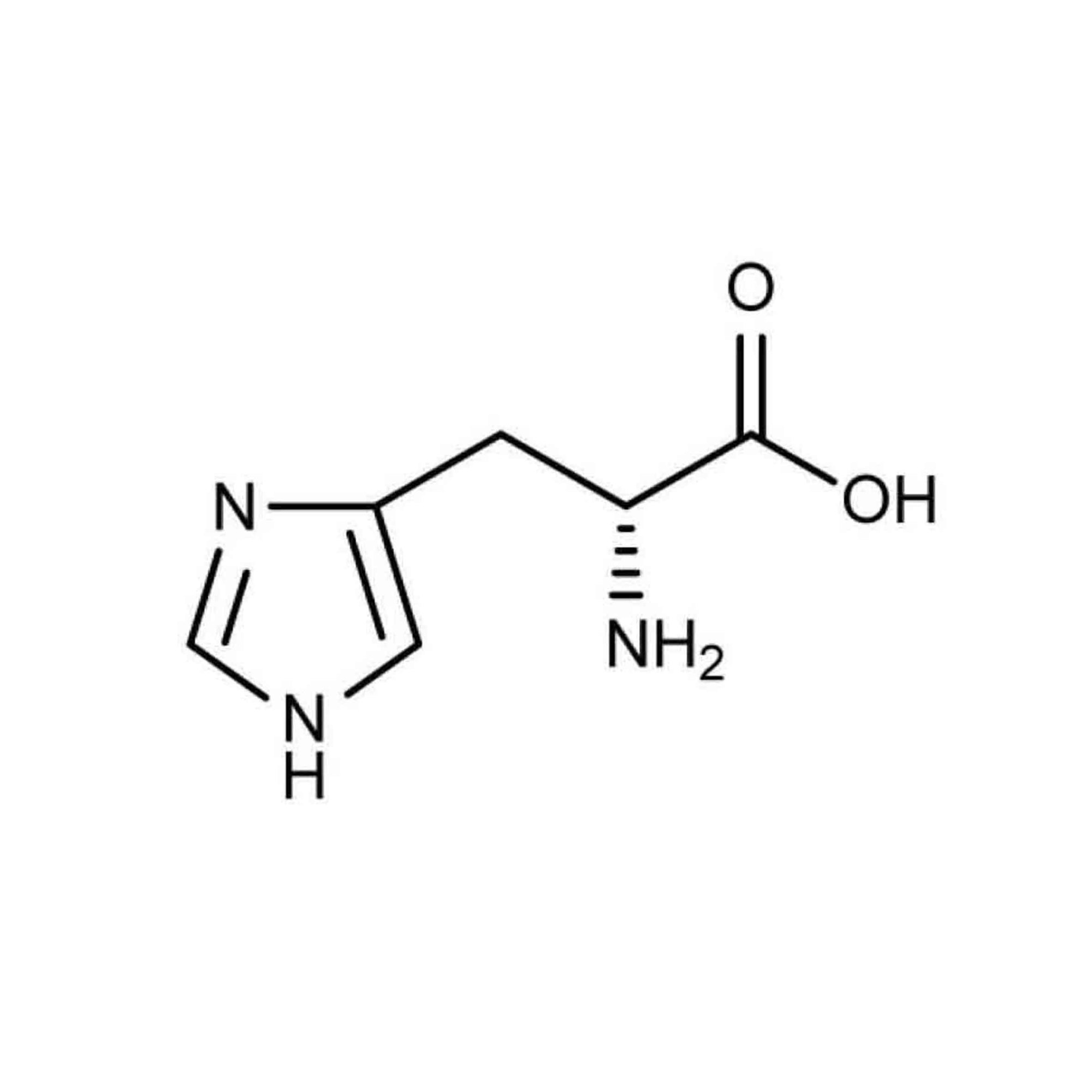 hight resolution of histidine contains an amino group a carboxylic acid group and an imidazole side chain classifying it as a positively charged amino acid at physiological