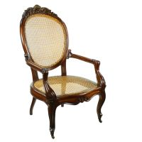 Victorian Mahogany Padauk Bergere Cane Armchair Carver ...