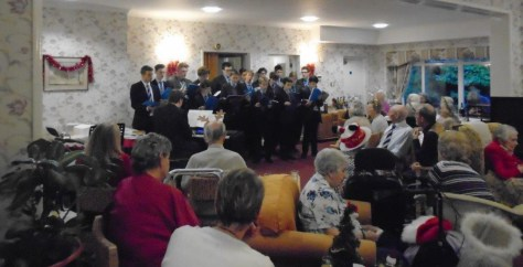newcastle boys school choir sing at Abbeyfield