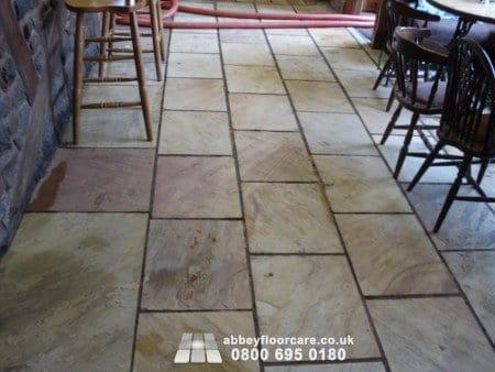 beautiful clean sandstone floor in leek staffordshire