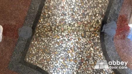 filling cracks in terrazzo floor