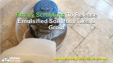 rotary scrubbing Tumbled Travertine