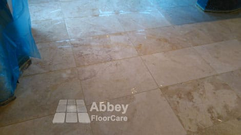 after finish honing and grout cleaning - abbey floor care - 0800 695 0180