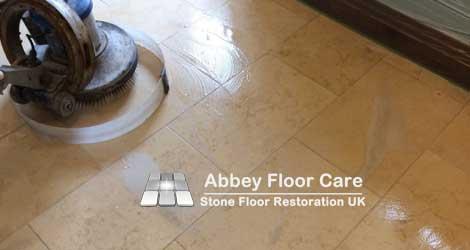 limestone floor scrubbing