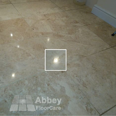 picture of sample marble floor polishing