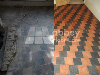 quarry tiles cleaned and sealed by abbey floor care
