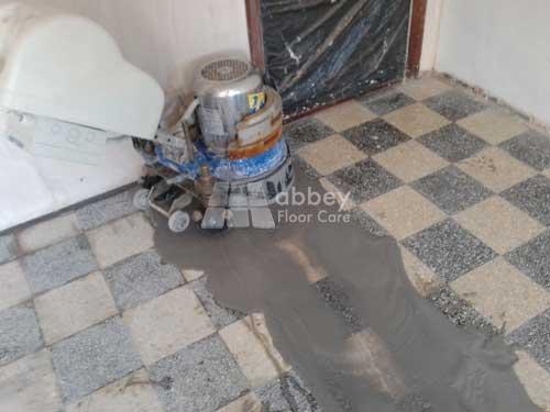grinding terrazzo floor