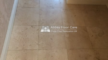 soiled travertine tiles in newark