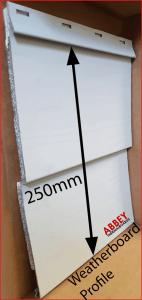 Aluminium Cladding in Weatherboard Profile Abbey Thermalboards