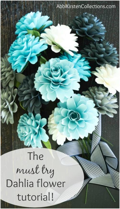 How to make paper flower dahlias. #DIY