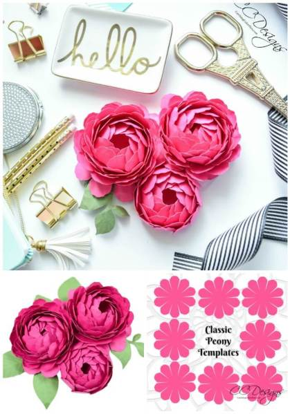 Peony Paper Flowers: A Step by Step Paper Flower Tutorial