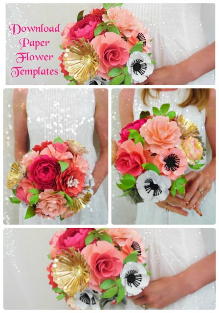 how to make paper flowers, easy paper flower tutorial