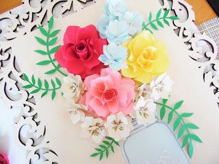 3D Paper Flower Wall Art- Home Wall Decor