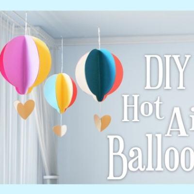 DIY Paper Hot Air Balloon Kid's Craft