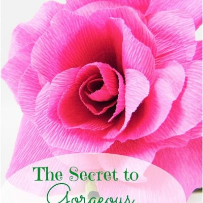 The Secret to Perfect Crepe Paper Flowers